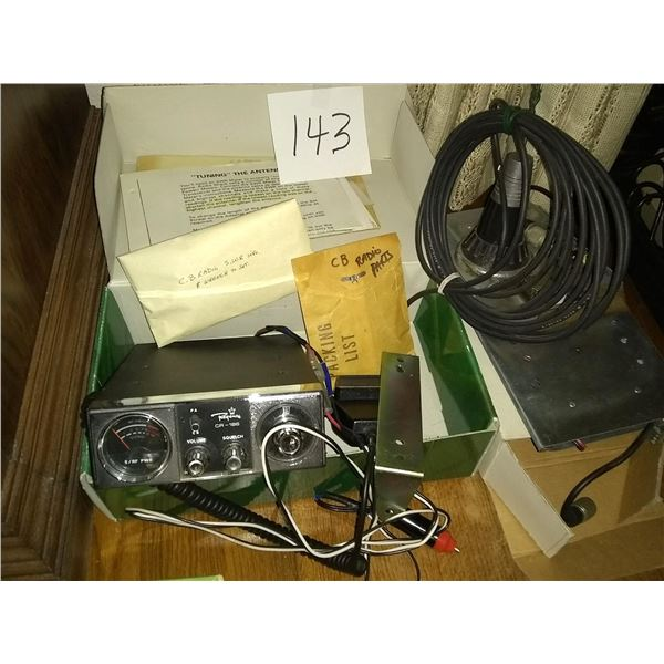 Vintage Regency CR-186 23 Channel CB Radio w/ Parts, Tools and Info