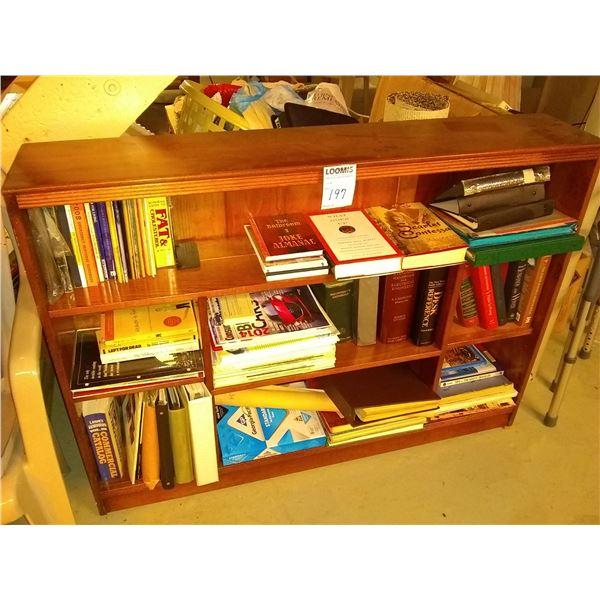 WOODEN WALL SHELF & BOOKS