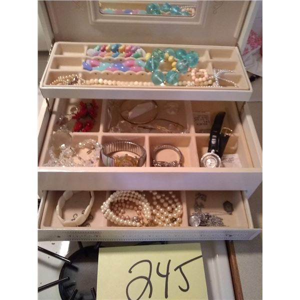Assorted Vintage Jewelry Lot, Includes Box