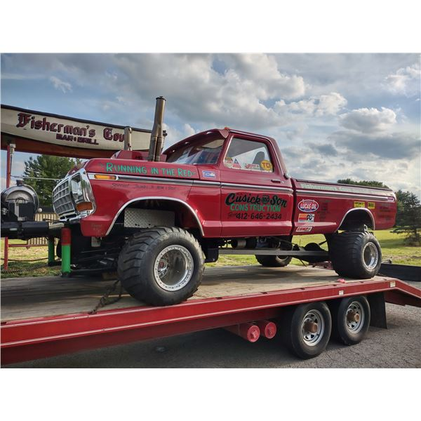 """""""RUNNING IN RED"""" CUSTOM FORD PULLING TRUCK (OVER $200,000 IN COST) / AKA LOT 505"""