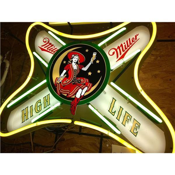 "Miller High Life Neon Sign, 22"" x 28"""