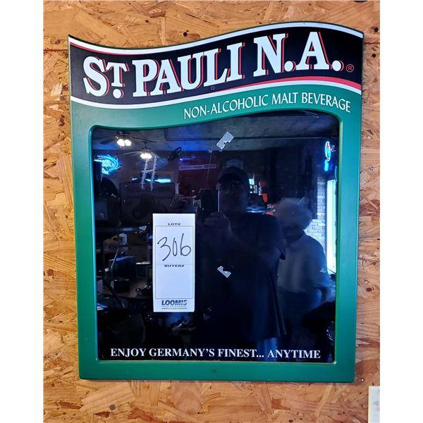 """St Pauli Girl N.A. 24"""" X 38"""" Glass Sign Board"""