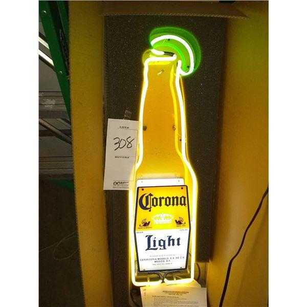 "New 9"" x 34"" Corona Light Neon Sign"