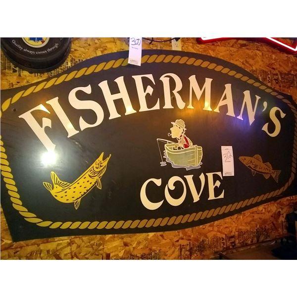 Jumbo Fisherman's Cove Sign