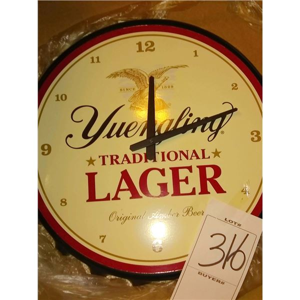 New Yuengling Traditional Lager Clock