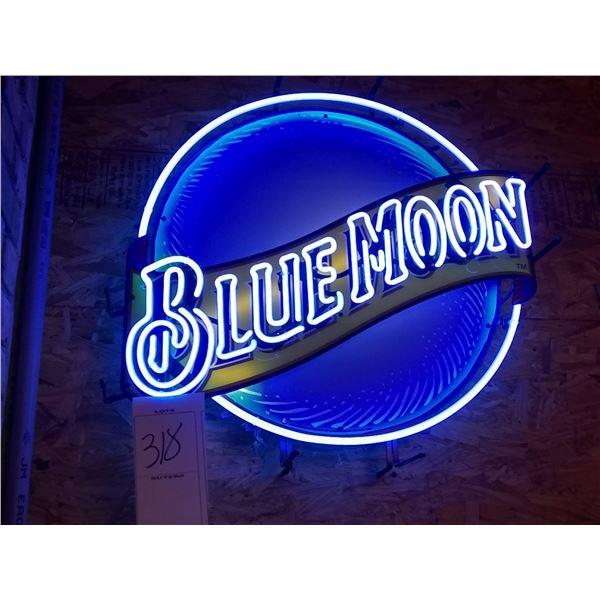 "Blue Moon Neon Sign, 28"" x 28"""
