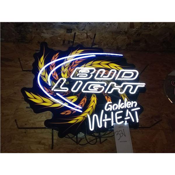 "Bud Light Golden Wheat Neon Sign, 33"" x 38"""