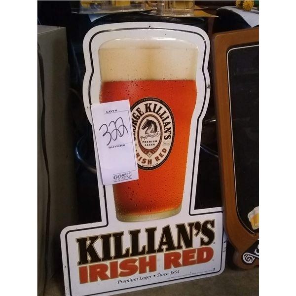 Killian's Irish Red Tin Advertising Sign