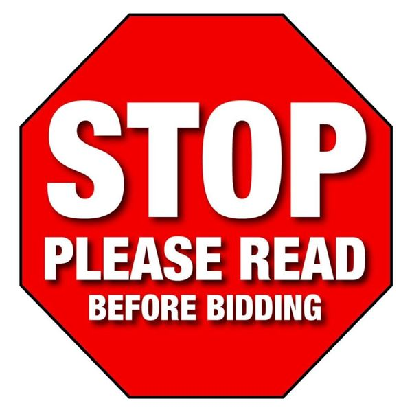 READ BEFORE BIDDING