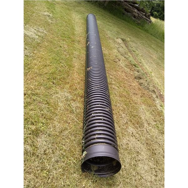New PVC Corrugated Culvert Pipe, 12 in. diameter by 20 ft. length / AKA LOT 557