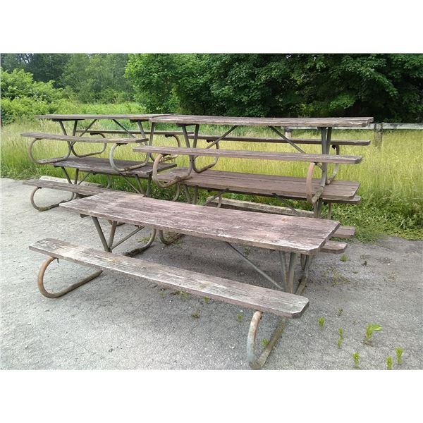 Commercial Picnic Tables (2) / AKA LOT 581B