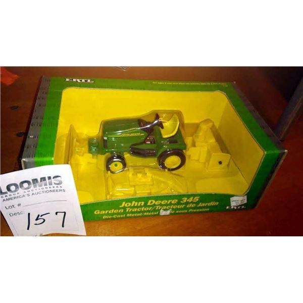 John Deere 345 Diecast 1/16 Scale Metal Garden Tractor