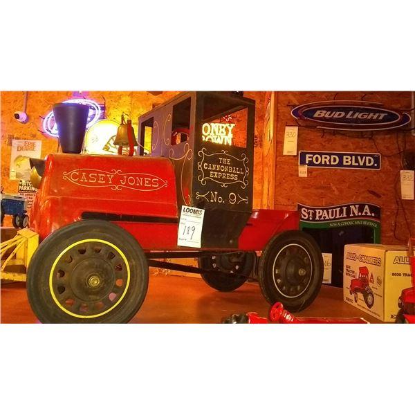 Vintage Casey Jones The Cannonball Express No. 9 Pedal Car