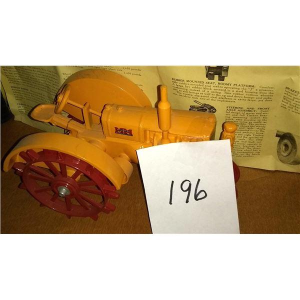 """Minneapolis-Moline Twin City """"J"""" Steel Wheel 1/16 Scale Model Tractor"""