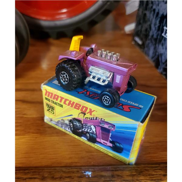 Vintage Matchbox Diecast Metal Mod Tractor, w/ Original Box