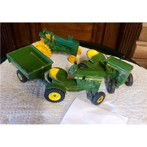 Vintage John Deere Tractors and Trailer