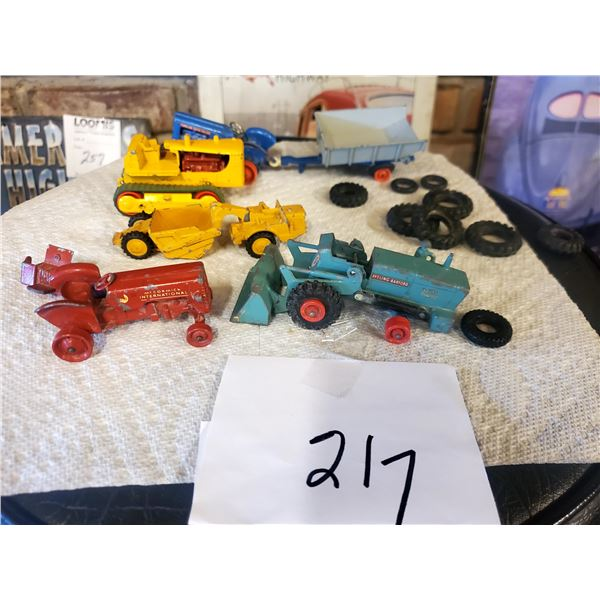 Lot of Vintage Miniature Tractors and Heavy Equipment