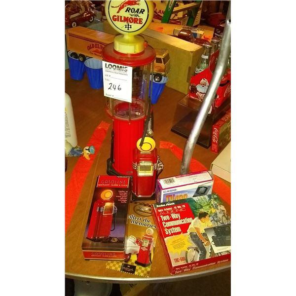 Gas Pump Collectors Lot, Casio Handheld TV, Radio Shack 2 Way Com System