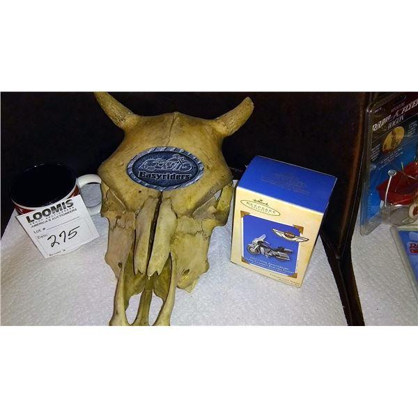 Easy Rider Skull, Harley Davidson Mug and Collectible Hallmark Ornament