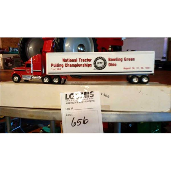 1/64 Scale Semi Truck by C& M Farm Toys, Commemorating the 1991 National Tractor Pulling Championshi