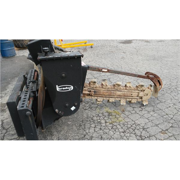 Near New Bradco Model 630 Trencher Attachment for Skid Loader / AKA LOT 521C