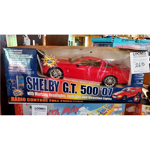 Shelby GT-500 2007 Scale Model Radio Control Full Function Car, New in Box