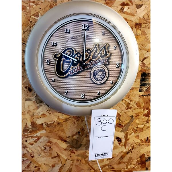 "Coors Original Resin Clock, 16"" Dia."