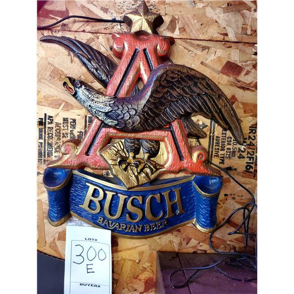 "Busch Bavarian Beer Resin Sign, 18"" x 16"""