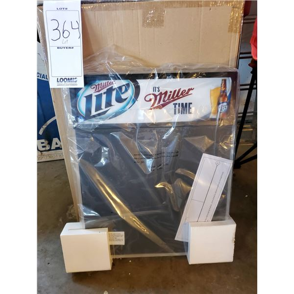 "Brand New Miller Time Erasable Light Up Menu Board, 19"" x 26"""