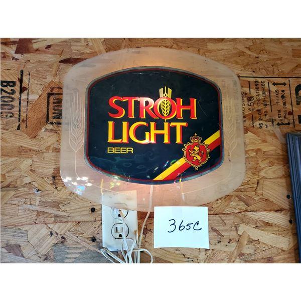 "Stroh Light Resin Lighted Sign, 13"" x 14"""