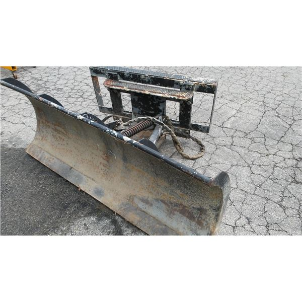 BRADCO MODEL 736 4 WAY DOZER BLADE FOR SKID LOADER / AKA LOT 521F