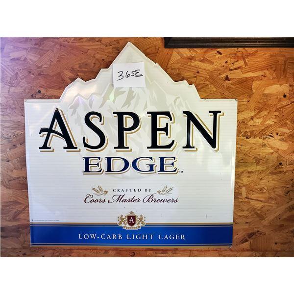 """Aspen Edge Tin Sign, 27.5"""" x 27"""""""