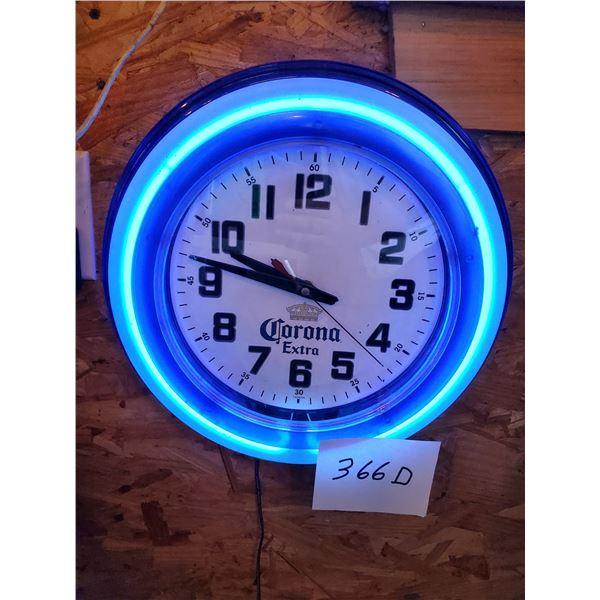 "Corona Extra Resin Light Up Clock, 15"" Dia."