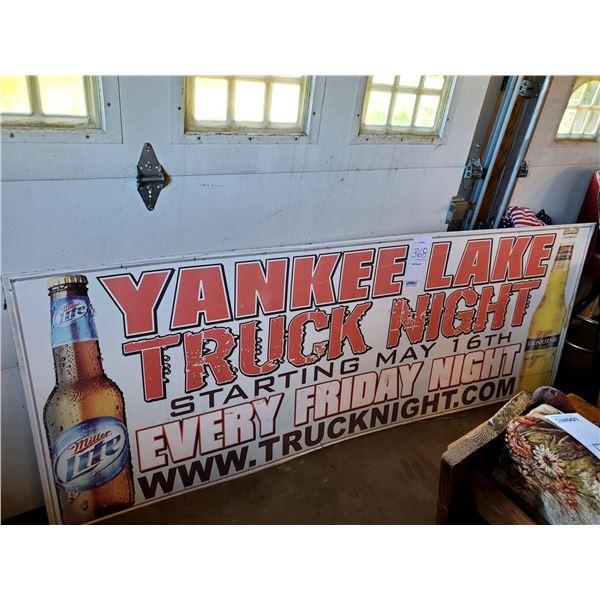 "Miller Lite Yankee Lake Truck Night, 97"" x 36"""