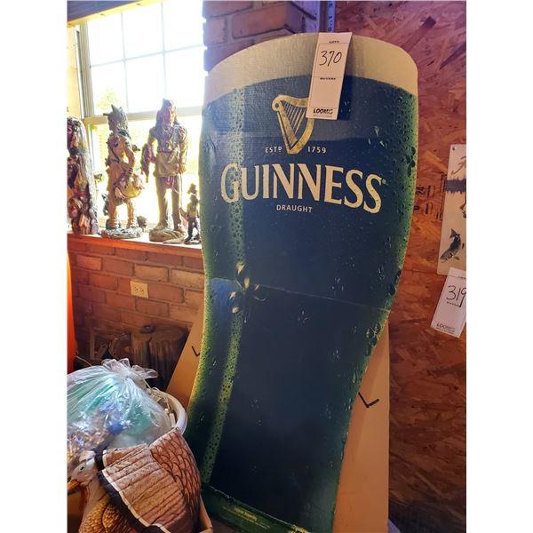 "Guinness Draught Cardboard Standee, 59"" Tall"