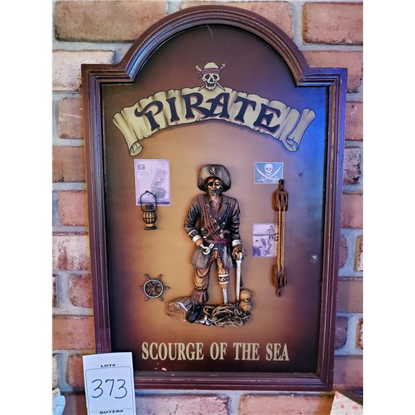 Pirate Scourge of the Seas 3D Wood/Resin Pub Sign