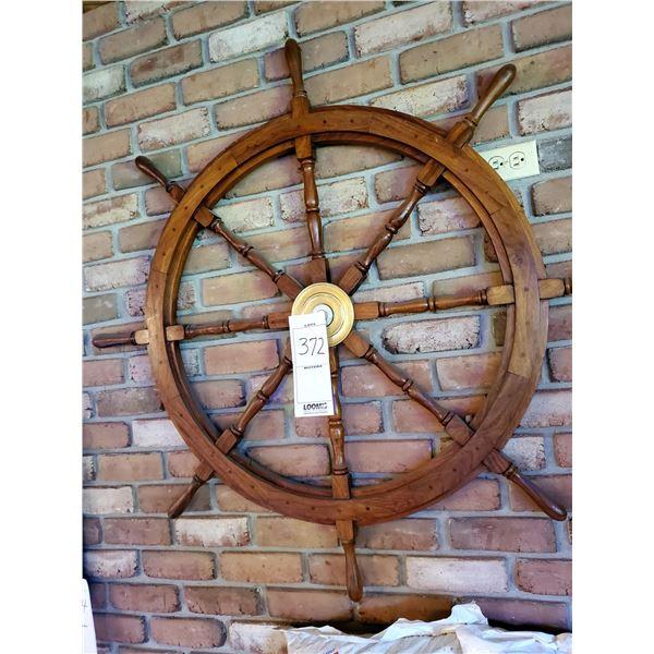 Nautical Wooden Captain's Ship Wheel