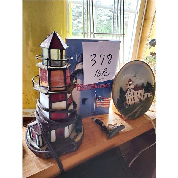 16 PC Lighthouse Lot, Nautical Home Decor