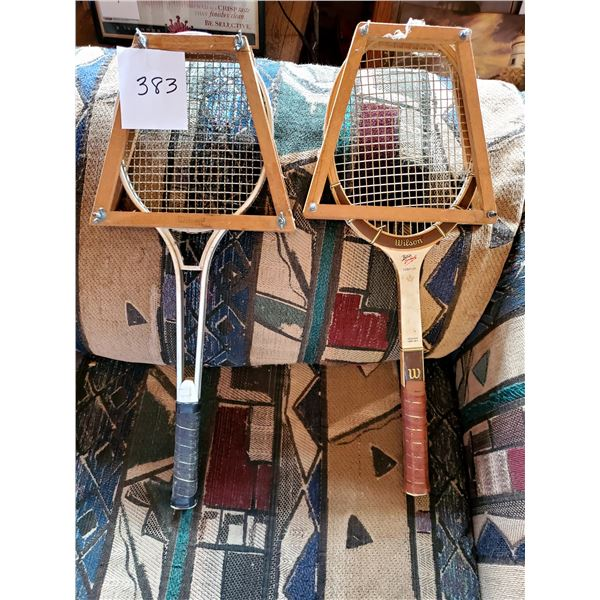 Pair of Tennis Rackets, Used