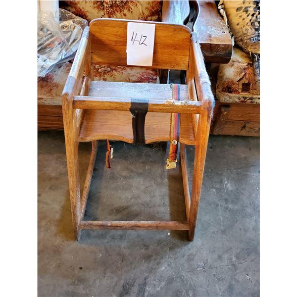 Oak Child's High Chair