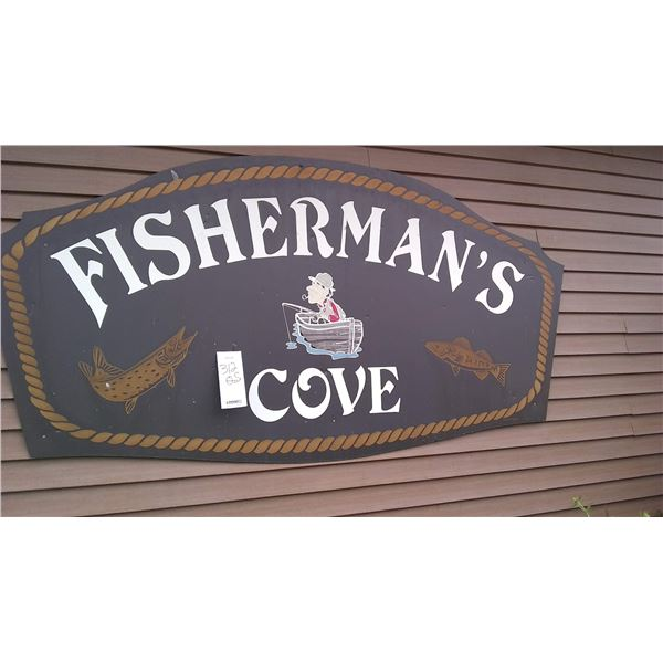 Jumbo Fisherman's Cove Outside Sign / Identical to Lot 312