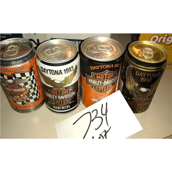 Harley Davidson/Daytona Beer Can Collection Lot
