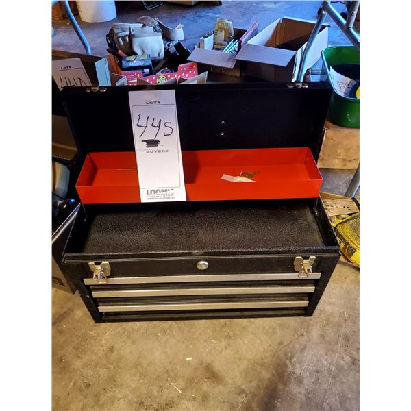 3 Drawer Tool Locking Box w/ Key