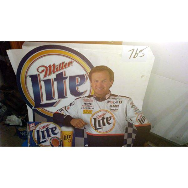 Approx. 6 Ft. Miller Lite NASCAR Floor Display Standee