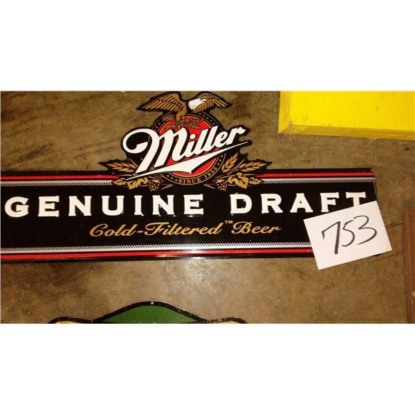 Vintage Miller Genuine Draft Metal Sign
