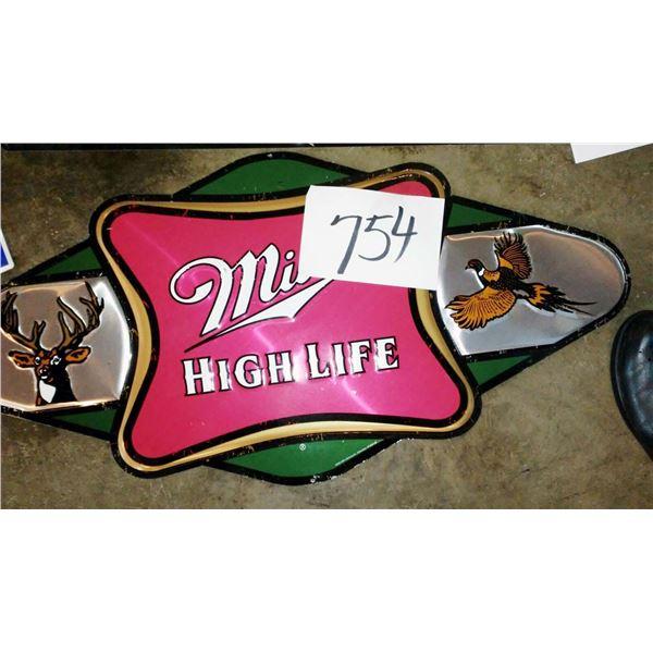 Vintage Miller High Life Metal Sign