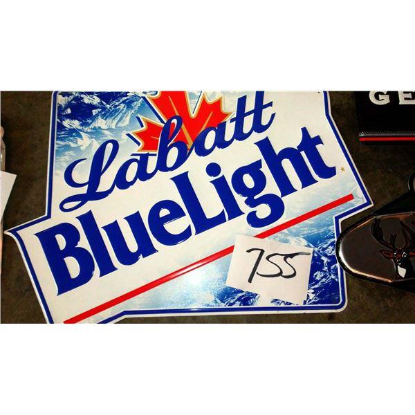 Vintage Labatt Blue Light Metal Sign