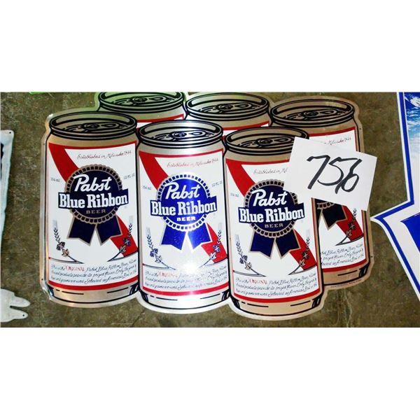 Vintage Pabst Blue Ribbon Metal Sign