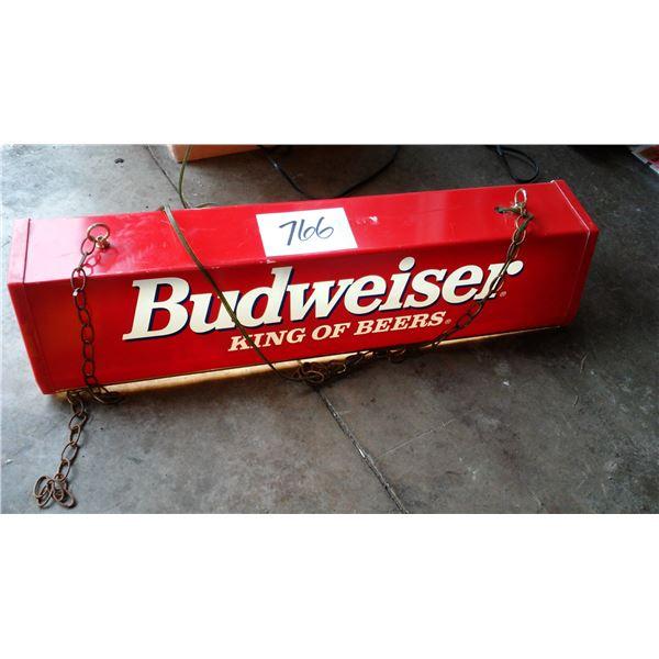 Vintage Budweiser Pool Table Light, Works