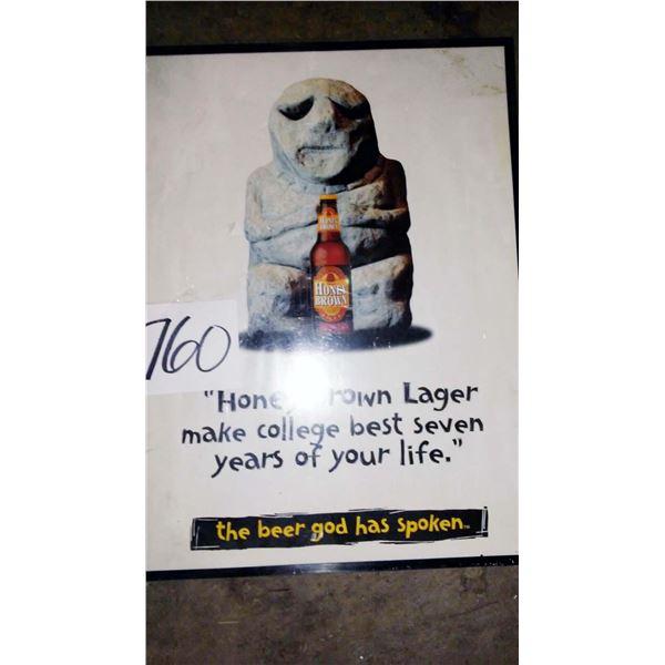 Honey Brown Framed Litho Print